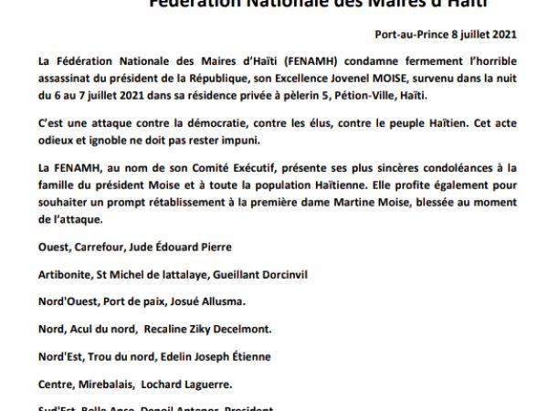 Assasinat du Président de la République d'Haïti.
