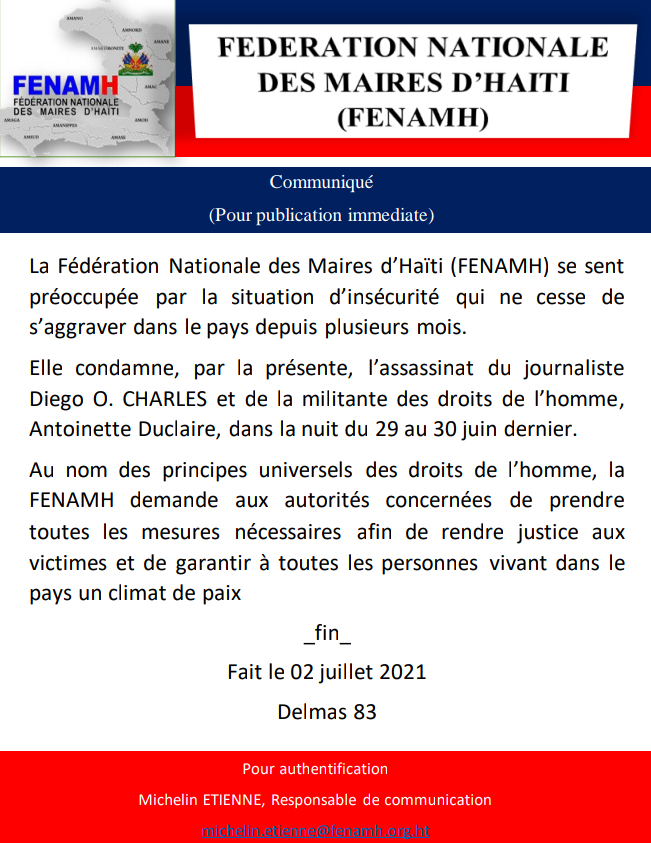 You are currently viewing Assasinat du journaliste Diego O. Charles